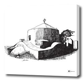 Church in Greek island of Ios
