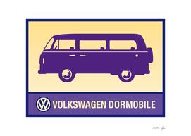 Vintage purple campervan