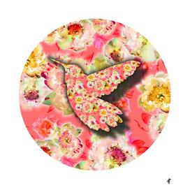 Hummingbird on Fancy Florals