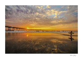 sunset surfenOcean beach