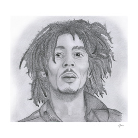Bob Marley Pencil Sketch
