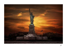 Lady Liberty Sunset