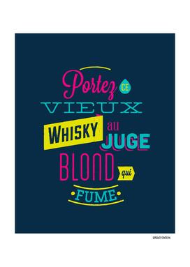 Whisky Pangram