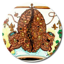 Clockwork Coffe Bean