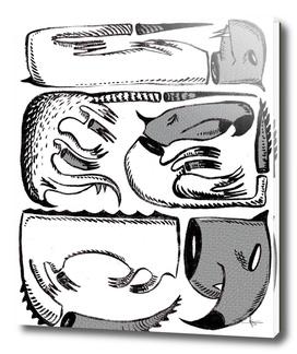 sleeping monstres