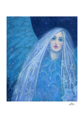 Metelitsa, Snow Girl Angel Snowgirl, Winter Fantasy Art