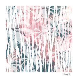 Abstract animal and palm