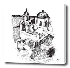 Church in Greek island of Santorini