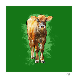 Cow on Green