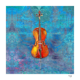 Cello on Blue