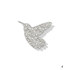 Hummingbird in Floral Silver