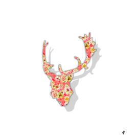 Deer in Fancy Florals