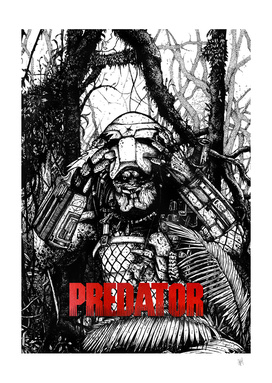 Predator-black-and-White