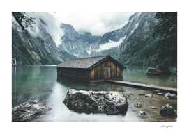 Boathouse on the Obersee