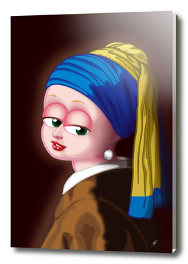 Girl with a Pearl Earring (Meisje met de parel) FNG version