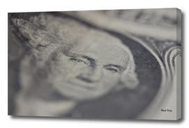 One Dollar Bill Close Up