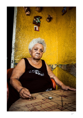 Woman with handcrafted Ludo