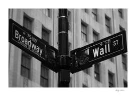 Broadway and Wall St.