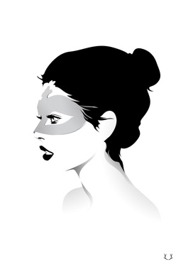 Girl Wearing a Mask