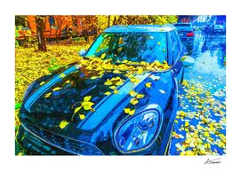 Blue Car - Autum In The City