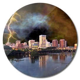 Stormy Richmond Skyline