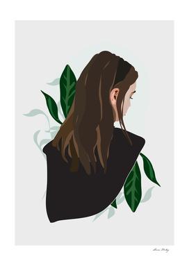 Girl and Plants