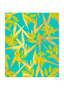 Gold & Teal Florals