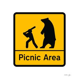 STICKMAN Picnic Sign