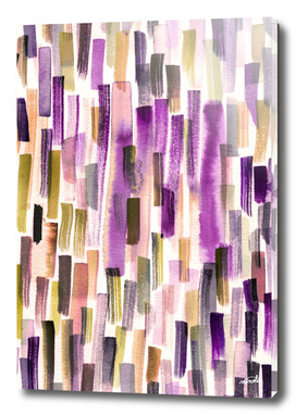Colorful brushstrokes pattern - Gold and viola