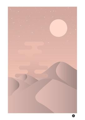 Rose gold desert