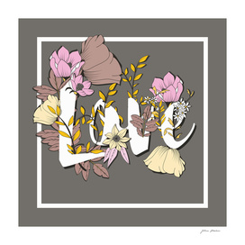 Flower Typography Love 004