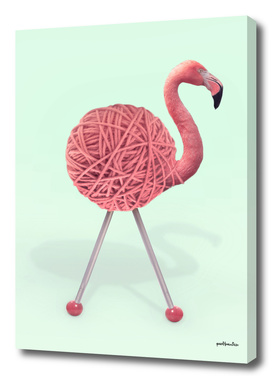 YARN FLAMINGO