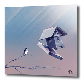 Freezing Birdhouse