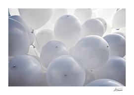 White Toy Balloons