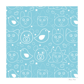 baby animals blue
