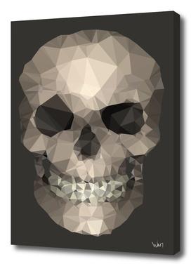 Polygons skull brown