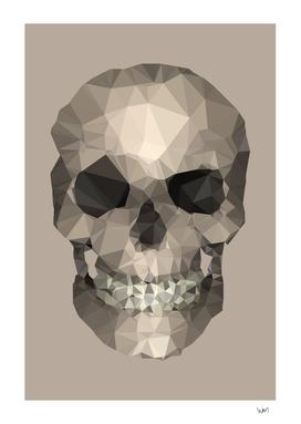 Polygons skull beige