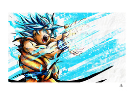 Son Goku SSJBLUE FanArt