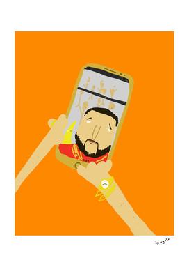 DJ Khaled selfie