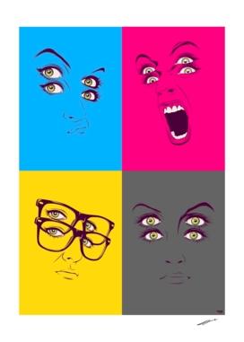 cmyk faces compilation