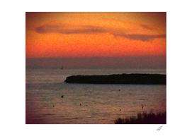 Sunset over Hedgehog Island Deekflo