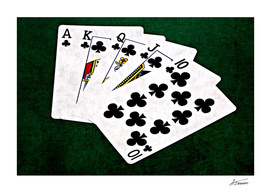 Poker Hands - Clubs Royal Flush