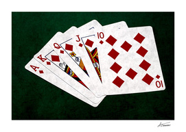 Poker Hands - Diamonds Royal Flush