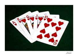 Poker Hands - Hearts Royal Flush