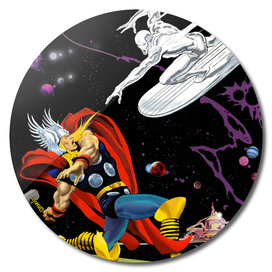 Marvel: Thor vs The Silver Surfer