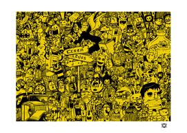 doodle curios yellow