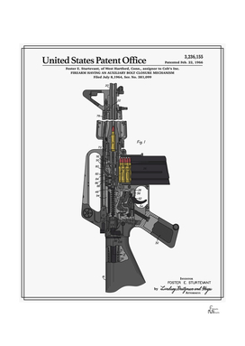 AR-15 Semi-Automatic Rifle Patent
