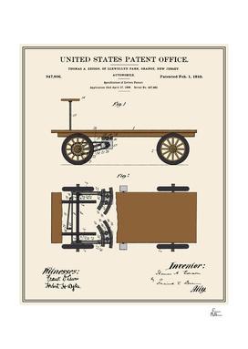 Thomas Edison Automobile Patent