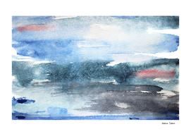 Winter mist || watercolor