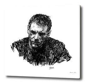 Portrait sketch of Harrison Ford
